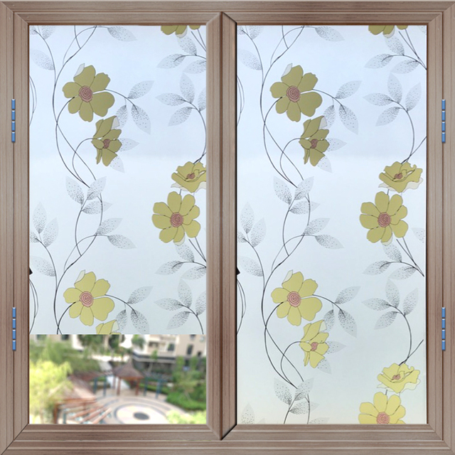 home window privacy film ground floor flat 45cm200cm frosted opaque glass self adhesive window film privacy stickers home decor mixed