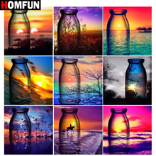 HOMFUN Full Square/Round Drill 5D DIY Diamond Painting Cup sunset scenery Embroidery Cross Stitch 5D Home Decor Gift homfun full square round drill 5d diy diamond painting sunset scenery embroidery cross stitch 5d home decor gift a17881