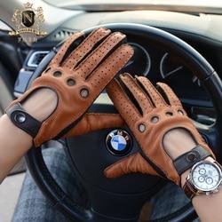 2020 Fashionable Autumn Winter Man Deerskin Gloves Vintage Locomotive Gloves Motorcycle Leather Gloves Male M-55