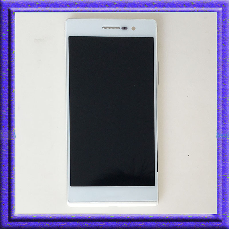 White LCD Display Touch Screen Digitizer Glass Assembly+Frame For Huawei Ascend P7 P7-L10 white lcd display touch screen digitizer glass assembly frame for huawei ascend p7 p7 l10