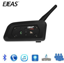 EJEAS V6 PRO Bluetooth Motorcycle BT Communicator Helmet Intercom Headset With 1200m Interphone For 6 Riders стоимость