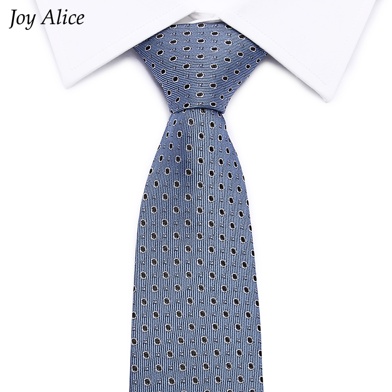 2017 New Fashion Business tie 8 cm width fit wedding Business party necktie men gravatas jacquard corbatas for men L10031 6 in Men 39 s Ties amp Handkerchiefs from Apparel Accessories