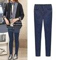2017 Nueva Moda Jeans Mujer Pantalones Lápiz Mediados de Cintura de Jeans Sexy Pantalones Flacos Elásticos delgados Pantalones Vaqueros Señora Apta Plus Tamaño 5XL