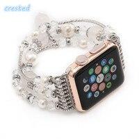 Natuurlijke Grijze agaat band voor Apple horloge 42 MM/38 MM 3/2/1 strap armband vrouwen mode pols band horloge horlogeband Met Adapters