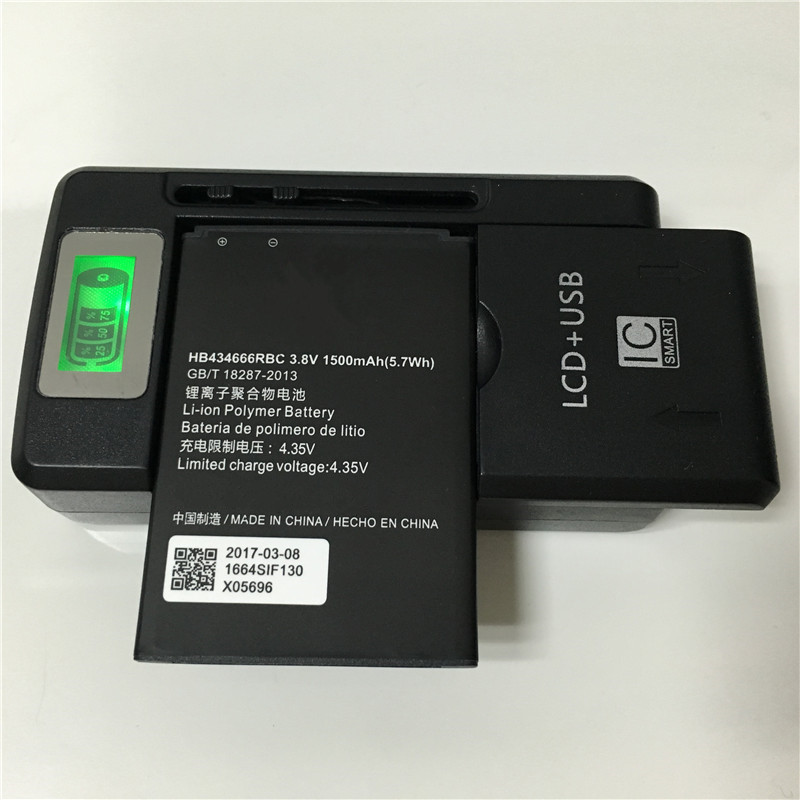 imágenes para 1500 mAh HB434666RBC Para Huawei E5577C E5573-856 E5573-852 E5573-853 E5573s-856 E5573s-852 E5573s-853 Batería + Cargador SS-8
