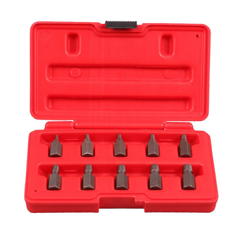 10pcs Side Damaged Screw Extractor Drill Bit Out Remover Bolt Stud Tool Remove Damaged Screws Slip Teeth Screwdriver