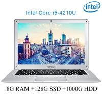 """ram 128g ssd 1000g P7-02 8G RAM 128g SSD 1000g HDD i5 4210U 14"""" Untral-דק מחשב שולחני מחשב נייד מחברת Gaming (1)"""
