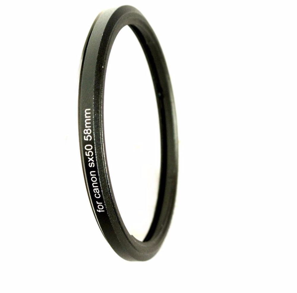 Metal Bayonet to 58mm Thread UV CPL Filter Mount <font><b>Lens</b></font> Adapter Ring for <font><b>Canon</b></font> Powersht SX520 <font><b>SX40</b></font> SX50 SX60 <font><b>HS</b></font> Digital Camera image