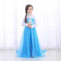 Snow and Ice Dress Queen Isalsa Dress Children's Dress Children's Girl Lianyiqunzixiaqiuaisha Princess Dress