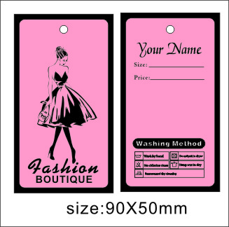 custom print hang tagsfree design free shipping wedding dress tags clothes tags can add your name on it no703