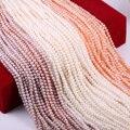 Бусины Из Натурального пресноводного жемчуга, высокое качество, почти круглые, 36 см, бусины для поделок, женское ожерелье, браслет, ювелирно...