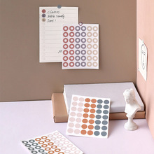 3PCS/ PACK Kawaii Cute Round Ring Sticker Marker Planner Diary Stationery Stickers Scrapbooking Bullet Journal Papeleria sl1666