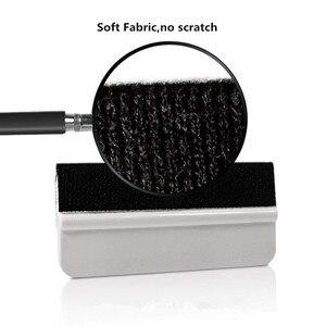 Image 4 - FOSHIO ممسحة من ألياف الكربون للسيارة ، أداة تغليف ، فينيل ناعم ، تظليل ، أدوات تنظيف زجاج السيارة ، 4 قطعة