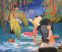 Chinese Artist Liu Chenyang's WorkLight's Paradise Oil on Canvas Posters and Prints for Girls Painting Pictures Kitchen Art