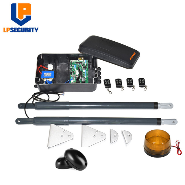 Swing Gate Opener, Heavy Duty Automatic Double Gate Operators with Wireless Remote Control, Auto Dual Gate Motor Hardware Kit