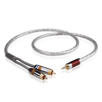 RCA Cable One Point Two Audio 2RCA Jack 3.5MM Male Audio Cable For MP3 CD DVD TV Silver Plated Hi Fi RCA Audio Connector Silver