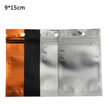9*15cm Aluminum Foil Front Clear Resealable Zipper Plastic Retail Packaging Storage Bags Zip Lock Bag Package 100pcs/lot