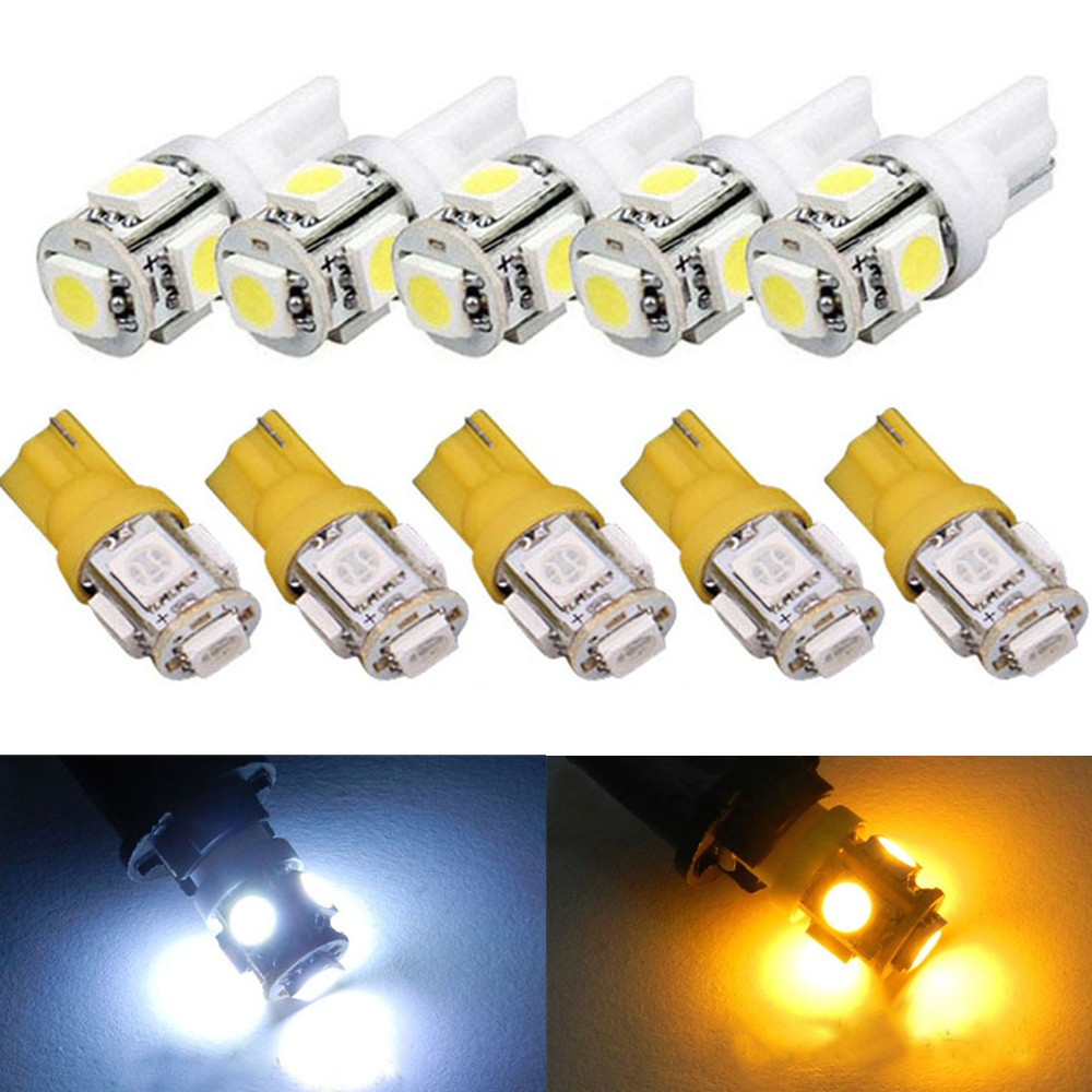 10X T10 5050 SMD 5-LED 194 168 W5W Wedge Pink Light Bulb XENON Car Tail Lamp