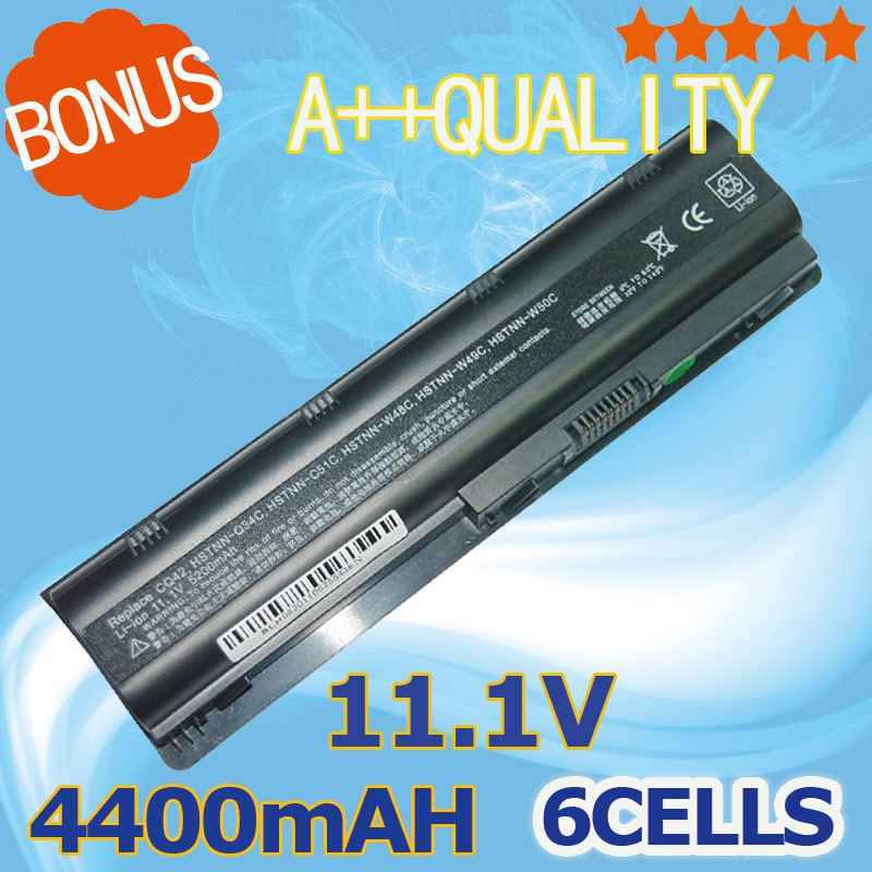 4400 mAh Batterie pour HP Pavilion G6 DV3 DM4 DV5 DV6 DV7 G4 G7 635 pour Compaq Presario CQ72 CQ42 MU09 MU06 593553-001 593554-001
