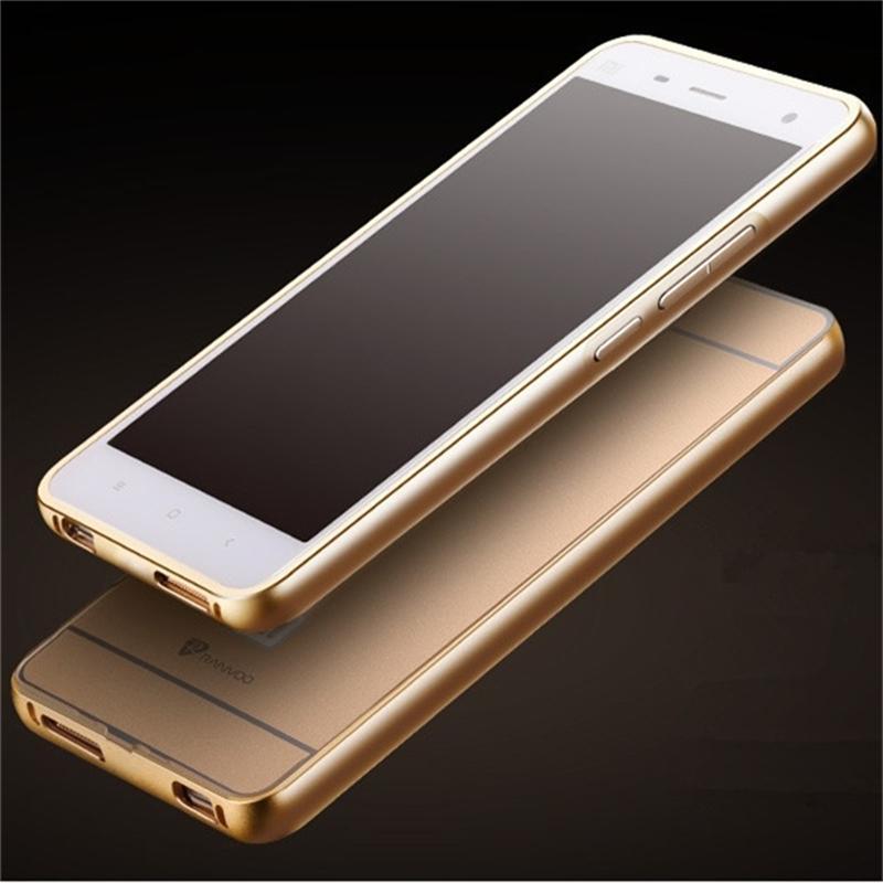 Sosire pentru carcasa Xiaomi Mi4 din aluminiu metalic + Acrilică - Accesorii și piese pentru telefoane mobile
