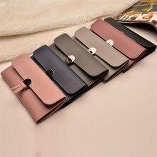 Women Wallets Fashion High-Quality Long Wallets PU Leather Tri-Fold Buckle Multi-Card Purse Wallet Designer Lady's Card Clutch цена 2017