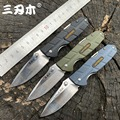 Sanrenmu 7092 складной многофункциональный складной нож 12C27 лезвие PA66 + GF ручка Открытый Отдых Охота резка EDC карманные инструменты