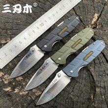 Sanrenmu 7092 Folding Multi Function Folding Knife 12C27 Blade PA66+GF Handle Outdoor Camping Hunting Cutting EDC Pocket Tools