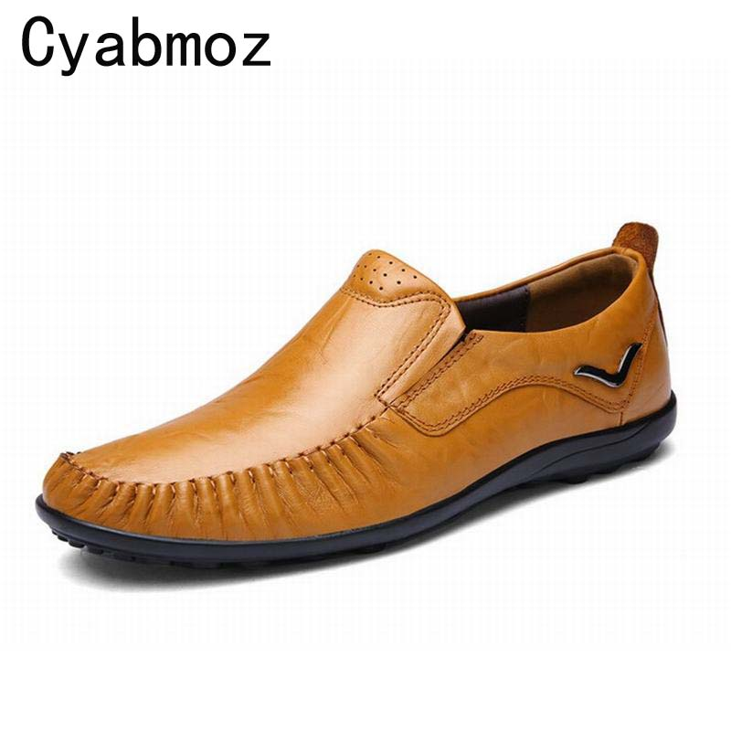 New Handmade Fashion Mens Shoes Soft Leather Loafers Moccasins For Men British Business Men's Casual Driving Shoe Big Size 38-47 klywoo plus size 38 46 men loafers leather shoes fashion mens casual driving boat shoes slip on handmade new shoes men moccasins