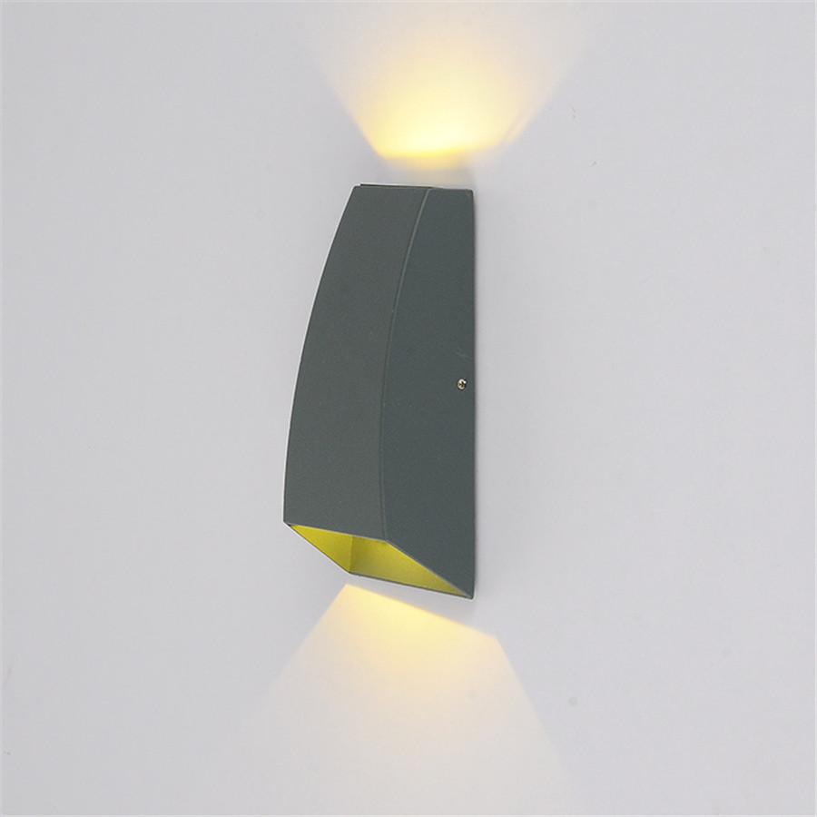 ZINUO 6W Outdoor LED Wall Lamp AC85-265V Wall Sconce Light Fixture Waterproof LED Lighti ...