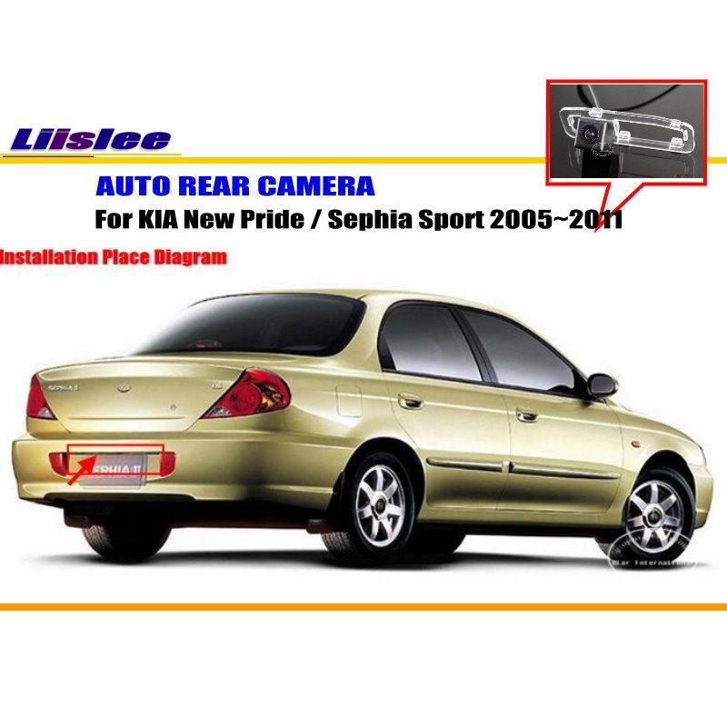 Liislee обратный Камера для KIA Новый Гордость/Sephia Спорт/Парковка заднего Камера/номерной знак лампа OEM обратный отверстие