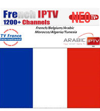 Promotion Neotv pro French Iptv subscription Live TV VOD Movies channels French Arabic UK Europe Neo one year Smart TV box(China)
