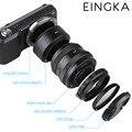 EINGKA Металла NEX Камеры Макро-Объектив Обратный Адаптер Защиты Комплект для Sony A6000 A6300 A6500 A5100 ILCE-5000 A7R A7 A7R A7S II NEX7