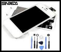 Sinbeda LCD Screen And Front Glass Touch Panel Digitizer Assembly Battery Housing Cover Door Rear Panel