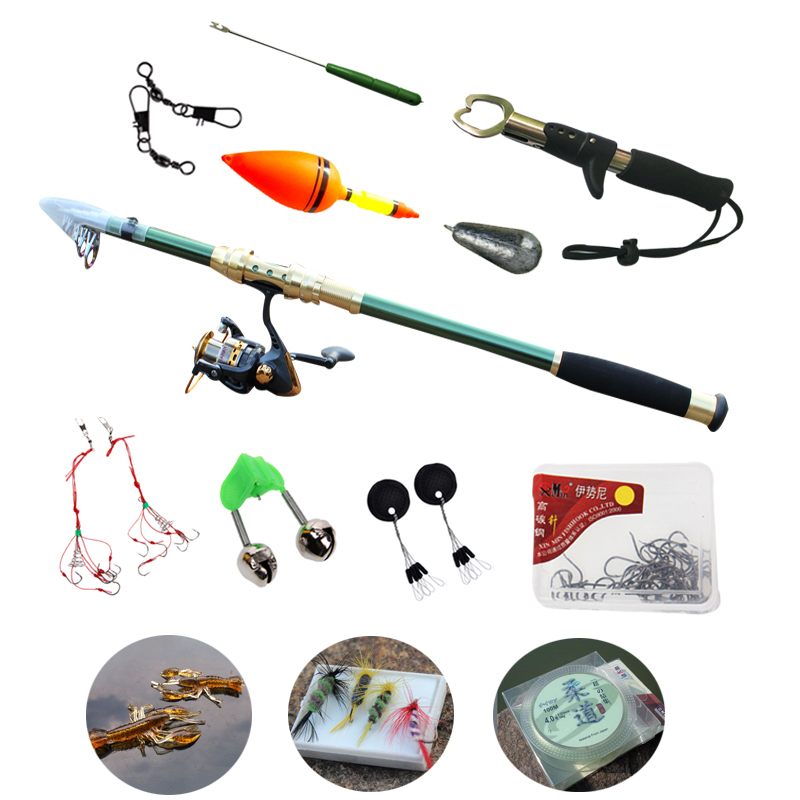 Spinning fishing rod with reel tackle accessories combos for Keep it reel fishing