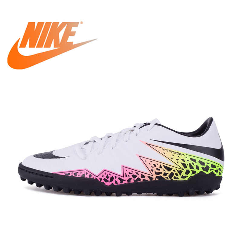 0a5c4dede Original NIKE Men s HYPERVENOM PHELON II TF Light Comfortable Football  Soccer Shoes Outdoor Lawn Breathable Sneakers
