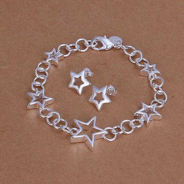 S176 925 Hot Menjual Perhiasan Perak Set Fashion Perhiasan Heart