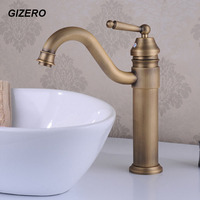11 Middle Height Basin Mixer Bathroom hot and cold Faucet Swivel Antique Bronze Deck Mounted Vessel Sink Vanity Taps ZR114