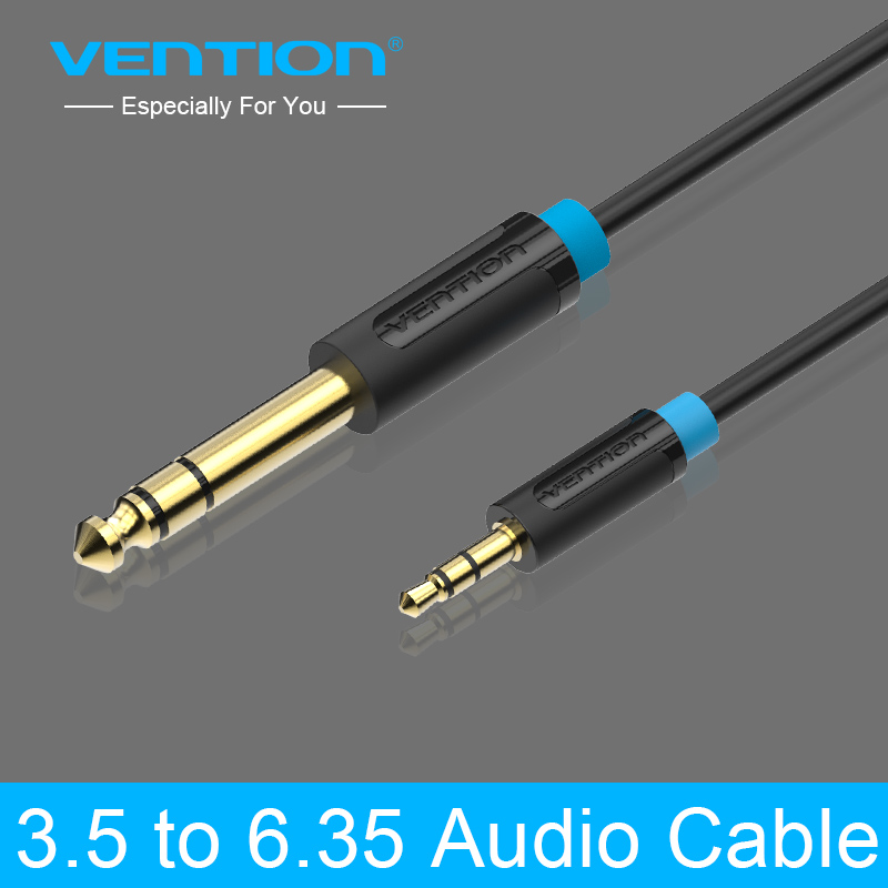 Vention 3.5mm to 6.35mm Adapter Jack Audio Cable for Mixer Amplifier Male to Male 0.5m 1m 2m 3m 5m 8m 10m Aux Cabo