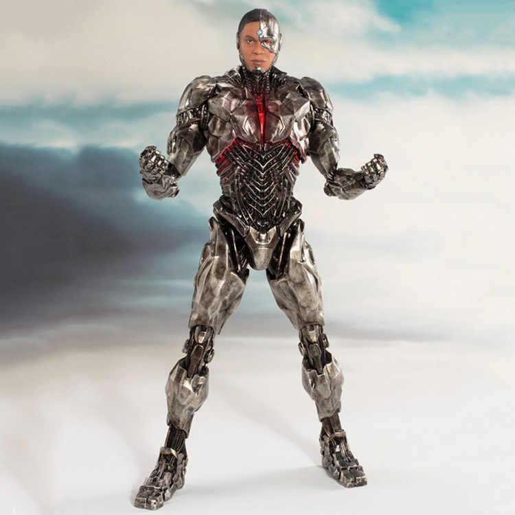 2019 filme DC Liga Da Justiça Cyborg Do Flash Aquaman Mulher Maravilha Batman Superman ARTFX Estátua Modelo Figuras de Ação Boneca de Brinquedo