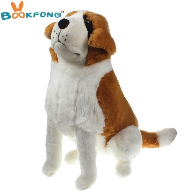 Bookfong 55cm Plush Saint Bernard Dog Plush Toy Squatting Sitting