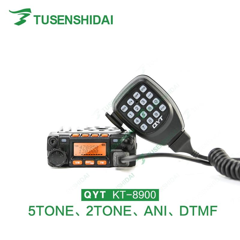 Ny version 25W Dual Band QYT KT8900 Fordonsradio Transceiver + Programmeringskabel