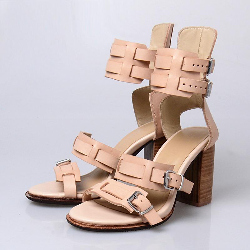 Prova Perfetto Sommer Super Star Kleid Schuhe Original Echtes Leder Peep Toe Frauen Sandale Schnalle High Heel Rom Sandale-in Hohe Absätze aus Schuhe bei  Gruppe 3