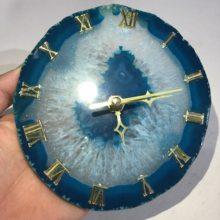 Fatias de ágata fácia de ágata naturais relógio de quartzo pedra preciosa cura decoração da sua casa