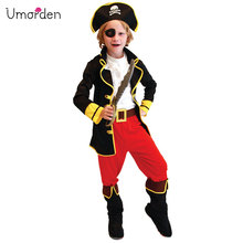 Umorden Halloween Purim Carnival Party Costume Boys Kids Children Pirate Costumes Fantasia Infantil Cosplay for Boy B-0021