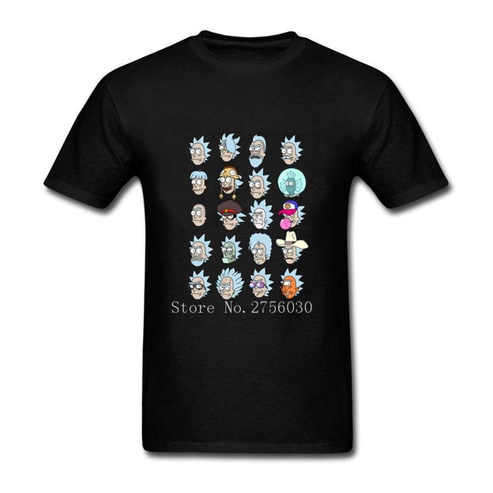 Men Short Sleeve T Shirt Rick And Morty Ricks Shirts Mens