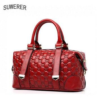 SUWERER 2020 New fashion women genuine leather bag women handbags women Luxurious designer bags handbags women