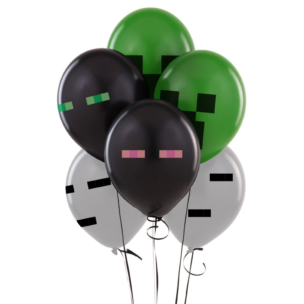US $2 68 25% OFF|10pcs/lot Minecraft Latex Balloons  (Enderman,Ghast,Creeper) Birthday Party Balloon Decoration Toys 4 Mixed  Party Supplies Gift-in