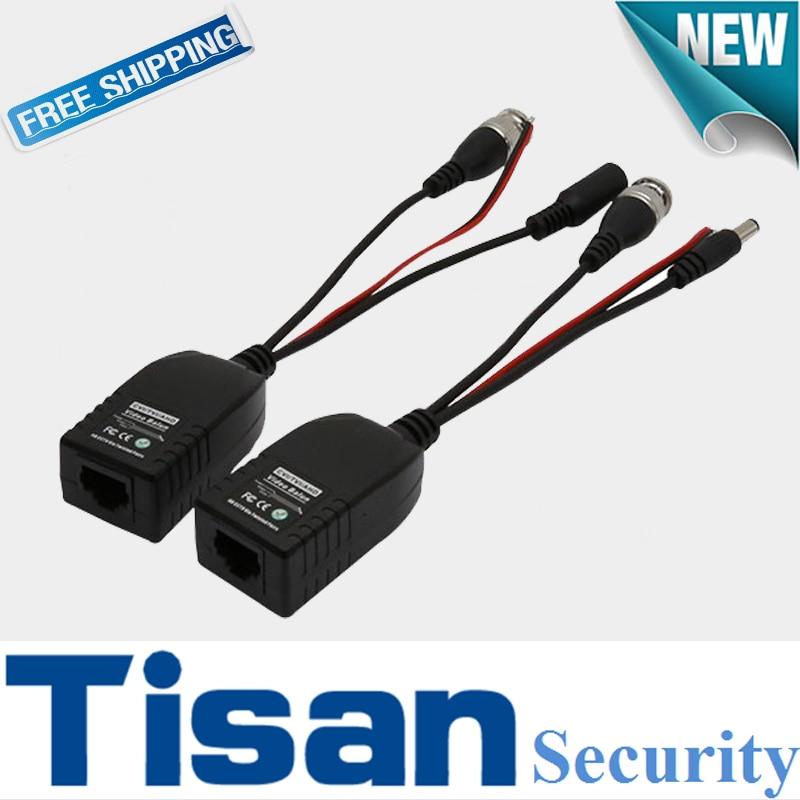 10 pieces 1080P HD CVI AHD TVI transmit Video Data Power together Video Balun for CCTV PTZ Camera System RJ45 to BNC 8pairs bnc to tj45 power video balun
