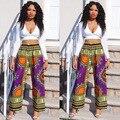 Халат Африканская Dashiki Платья Реального Хлопка Женская Одежда Новая Мода 2016 Национальная Высота Отдых Брюки С Длинными рукавами Платье