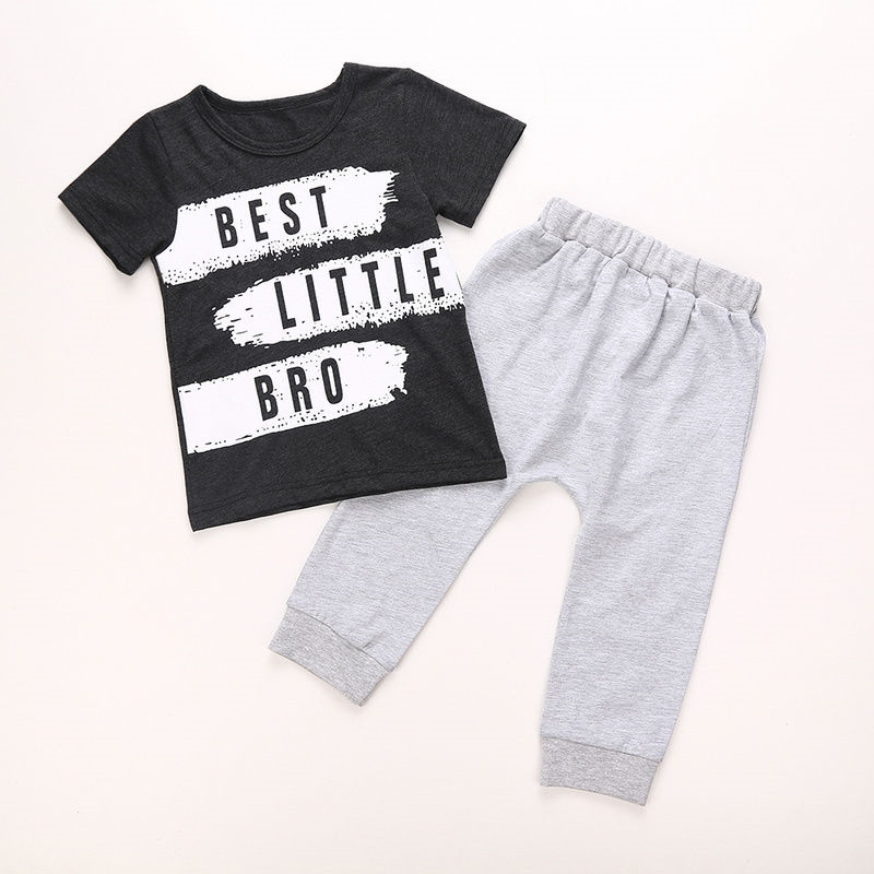 Baby Boy T-shirt Tops+Long Pants 2pcs Toddler Kids Baby Boy Clothes 2017 New Arrival Fashion Outfits Set Clothing For Newborns